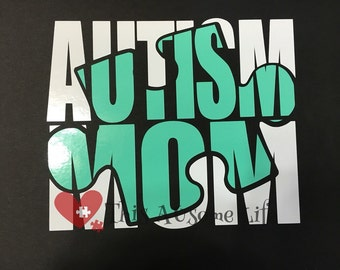 Autism Awareness Vinyl Car Decal / Bumper Sticker Autism Mom