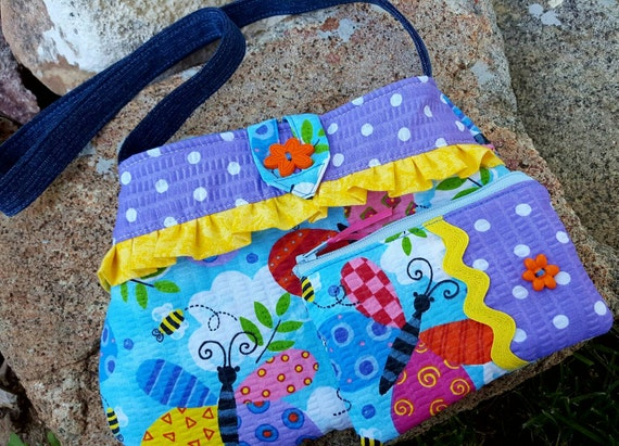 Butterfly Toddler Purse, Girl's  Purse with Matching Coin Purse