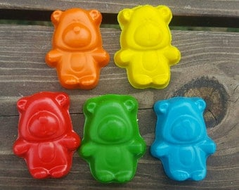 Teddy bear crayons set of 20 - party favors