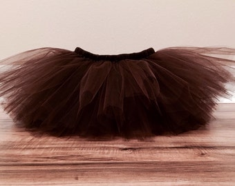 Chocolate Brown Tutu, Birthday tutu, 1st birthday tutu, baby tutu, infant tutu, toddler tutu, photo prop tutu, thanksgiving tutu, fall tutu