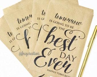 Best Day Ever | Best Day Ever Favor Bag | Rehearsal Dinner favors | Candy Bar Favor Bags | Weddding Favor Bags (5x7) | Best Day Every Banner