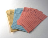 Set 10 Library Cards, New Library Cards, Unused Library Cards, Book Party, Book Wedding, Library Checkout Card