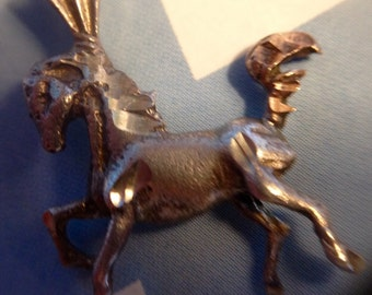 """Sterling Silver Horse Pendant on 18"""" Sterling Silver Chain (st - 1577)"""