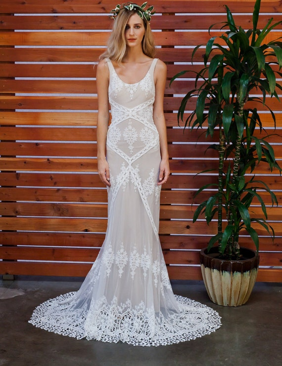 Cecilia Lace Bohemian Wedding Dress