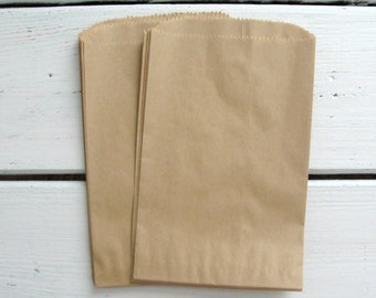 "20 Brown Kraft Party Favor Bags Treat Bags Gift Bags 5"" x 7"""