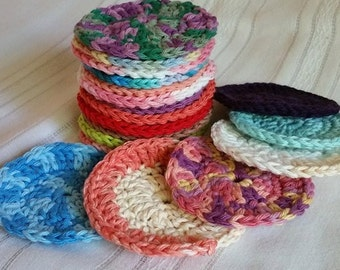 Crochet Cotton Face Scrubbies Set of 14