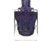 Night Light - Deep Blue Violet Holographic Sheer Jelly Nail Polish