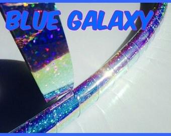 "3/4"" inch Blue Galaxy Metallic Hula Hoop Tape"