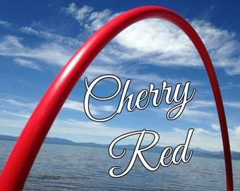 """Cherry Red Colored 3/4"""" or 5/8"""" PolyPro Hula Hoop - You pick the size - by Colorado Hula Hoops"""