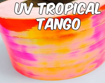 3/4 inch UV Tropical Tango Metallic Hula Hoop Tape