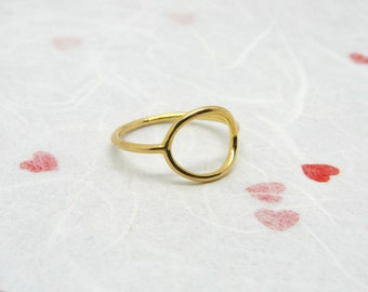Gold ring, Simple gold ring, Delicate ring, Gold circle ring, Everyday Gold filled ring