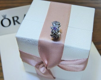 Pandora Sterling Silver Forget Me Not Spacer Charm