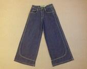 1990's, club kid, raver, super wide, flare leg, jeans, Women's size 5