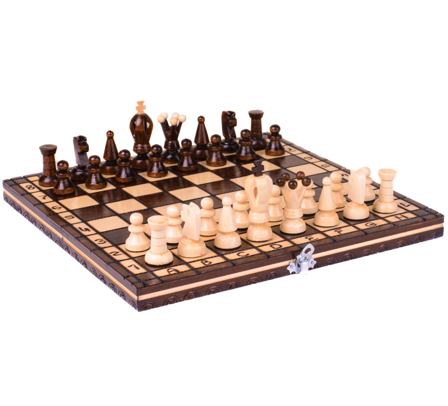 Wooden chess set wooden chess board wood chess set chess - Wooden chess tables ...