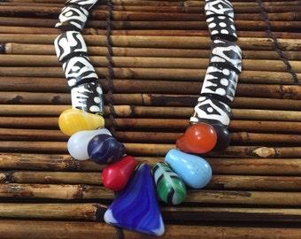 Batik bone, Mali Wedding Bead and vulcanite