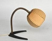20% OFF Mid Century  Goose-neck Table Lamp / Wall Lamp / Vintage Desk Lamp / Bedside Lamp / 50's 60's Mad Men Era Lighting / Brass