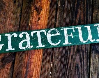 Grateful - Hunter Green/Ivory White