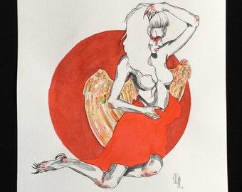 Harpy. 40 x 30