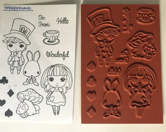 The Greeting Farm Wonderland Stamp Set New
