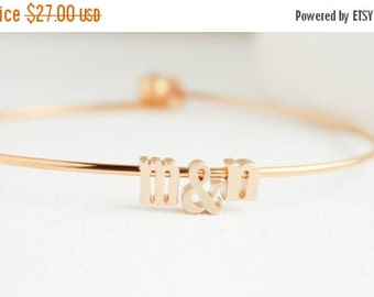 Initial Bangle, Anniversary Gift, Gold Initial Bangles, Gold Bangles, Gold Bracelet, Gold Jewelry, Everyday Jewelry
