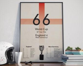 1966 World Cup. High Quality Print.