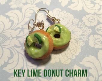 Key Lime Donut Charm Earrings