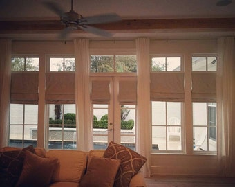 Blackout Roman Shades and Custom Curtains, You provide the  fabric of your choice. Blackout Roman Shade option