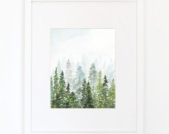 Evergreen - Watercolor Art Print