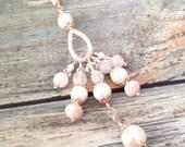 SALE 40% Off SALE 40 Percent Rose Gold Blush Pink Pearl Planner Charm-Gift Idea Midori Fauxdori kiki k