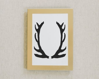 Calligraphy Print, Antlers