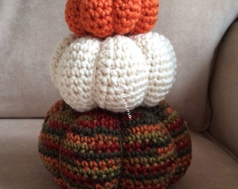 Crochet Pumpkin Trio