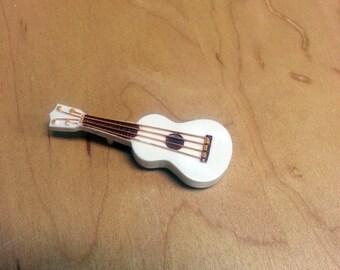 Vintage Mid-Century Plastic 4 String Guitar Instrument Pin