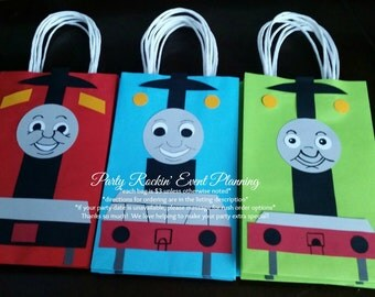 Thomas the Train Party Favor Gift/Goodie  Bags!