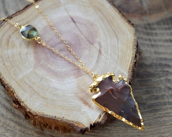 Jasper Arrowhead Necklace- Arrowhead Necklace