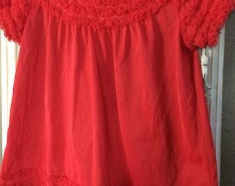 Vintage pajama top and bloomers set