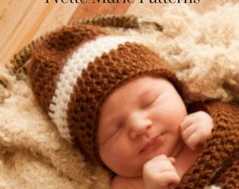 Newborn football hat pattern/baby football hat pattern/newborn halloween costume/baby boy halloween/football beanie/crochet baby hat pattern