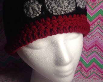 Paw Print Crochet Hat qty 1