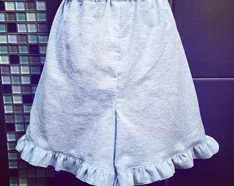 Blue lightweight cotton shorts