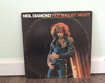 "Neil Diamond ""Hot August Night"" Vinyl Record"