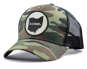 More Colors - Ohio Home Army Camo Trucker Hat