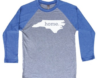 Homeland Tees North Carolina Home Tri-Blend Raglan Baseball Shirt