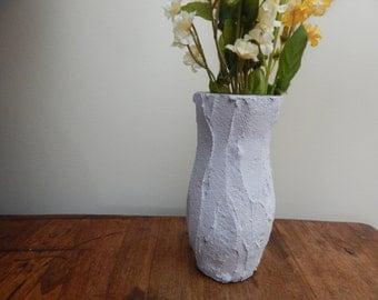 Handcrafted / lavender home decor /lavender vase / cottage chic / home decor / limestone