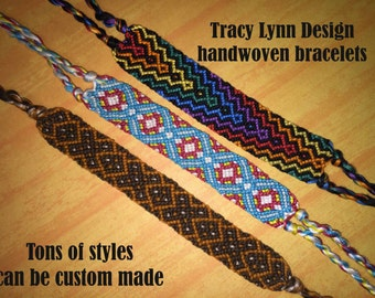 Friendship Bracelet - Woven Bracelet - Macrame Bracelet - Adjustable Bracelets - Custom Made - Stackable Bracelets - Handmade Anklet - #39