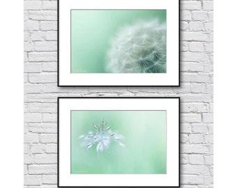 mint green wall art | etsy