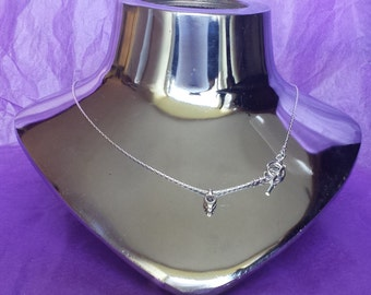 Sterling Silver Interchangeable necklace with toggle clasp