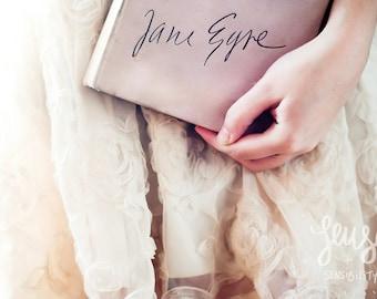 Reader I married him - Jane Eyre, Book, Still Life Photography, Large Wall Art Print, Romantic Art Print, Fine Art Photography