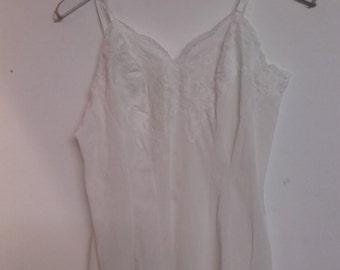80's vintage lace slip dress