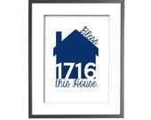 """Housewarming Gift, Home Address Sign, House Address, New Home Gift, Bless This House, Chalkboard - PERSONALIZED - 8""""x10"""" Printable Art"""