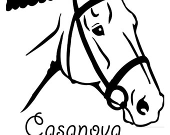 HORSE DECAL  Horse Decal with Name Equestrian Gift Horse Lover Car Decal Phone Decal HORSE Vinyl Decal