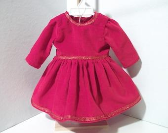 Dolls red velvet dress